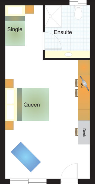 Cardiff Motor Inn - Standard Room Floor Plan